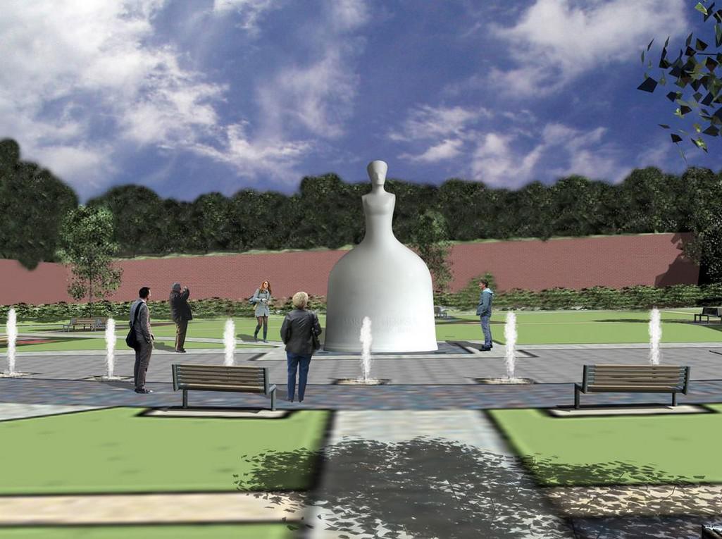 Vizualizace pomníku Marie Terezie, který by měl stát u Prašného mostu v Praze
