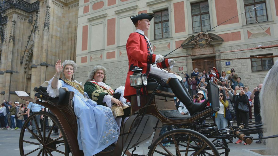 Marie Terezie při zahájení sezony Pražského hradu