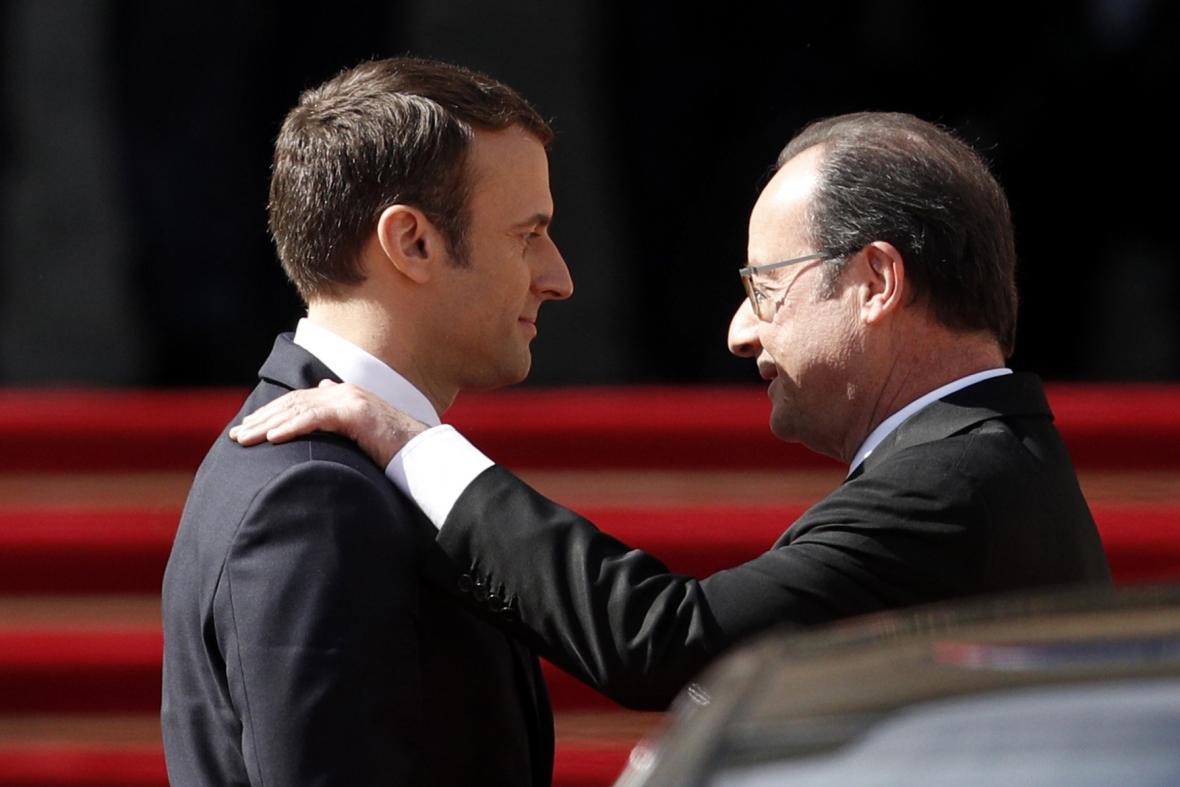 Emmanuel Macron a Francois Hollande