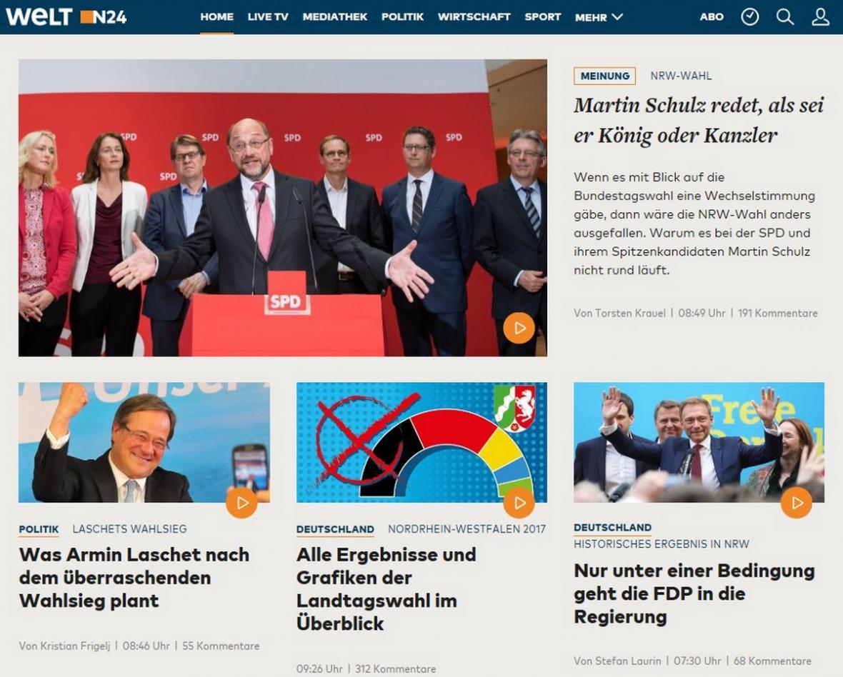 Welt o prohře SPD