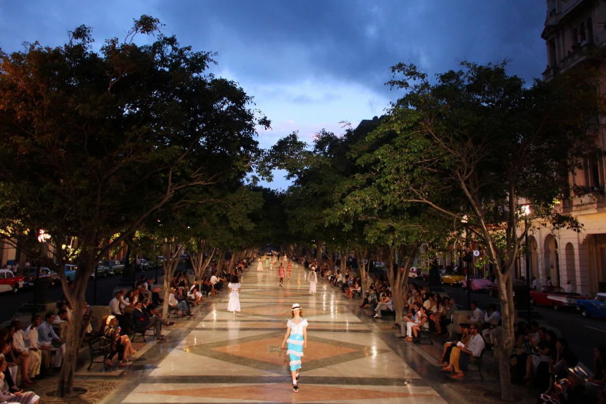 Přehlídka Chanelu v Havaně