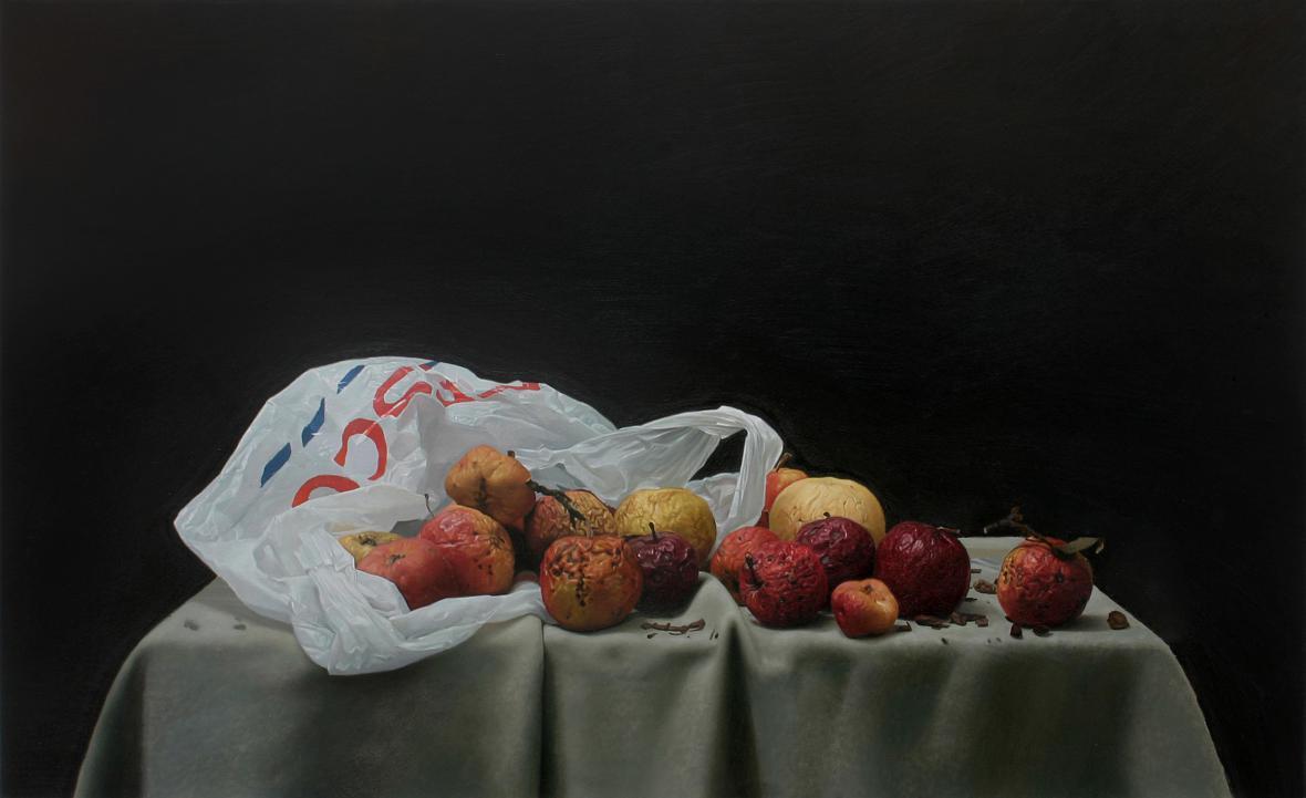 Jan Mikulka, Zátiší s jablky
