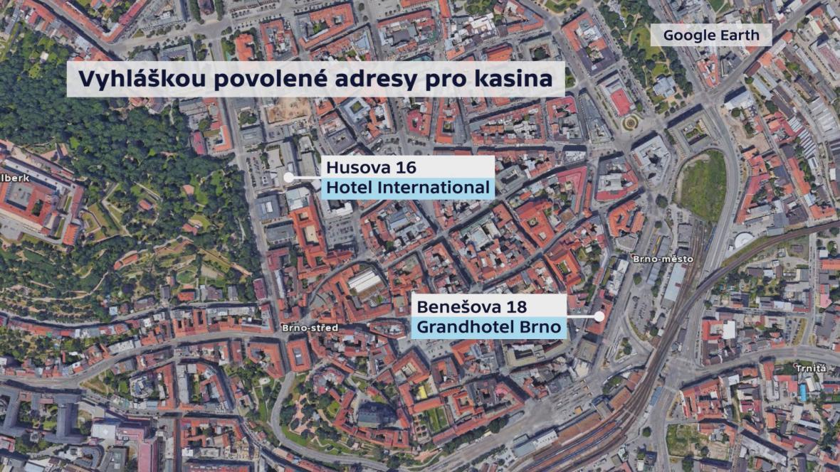 Dva hotely v Brně, kde se znovu otevřou kasina
