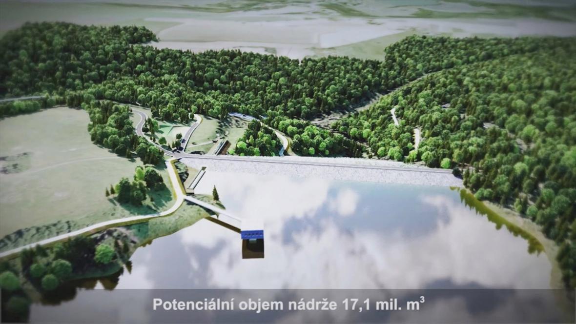 Zvažovaná přehrada v Pěčíně