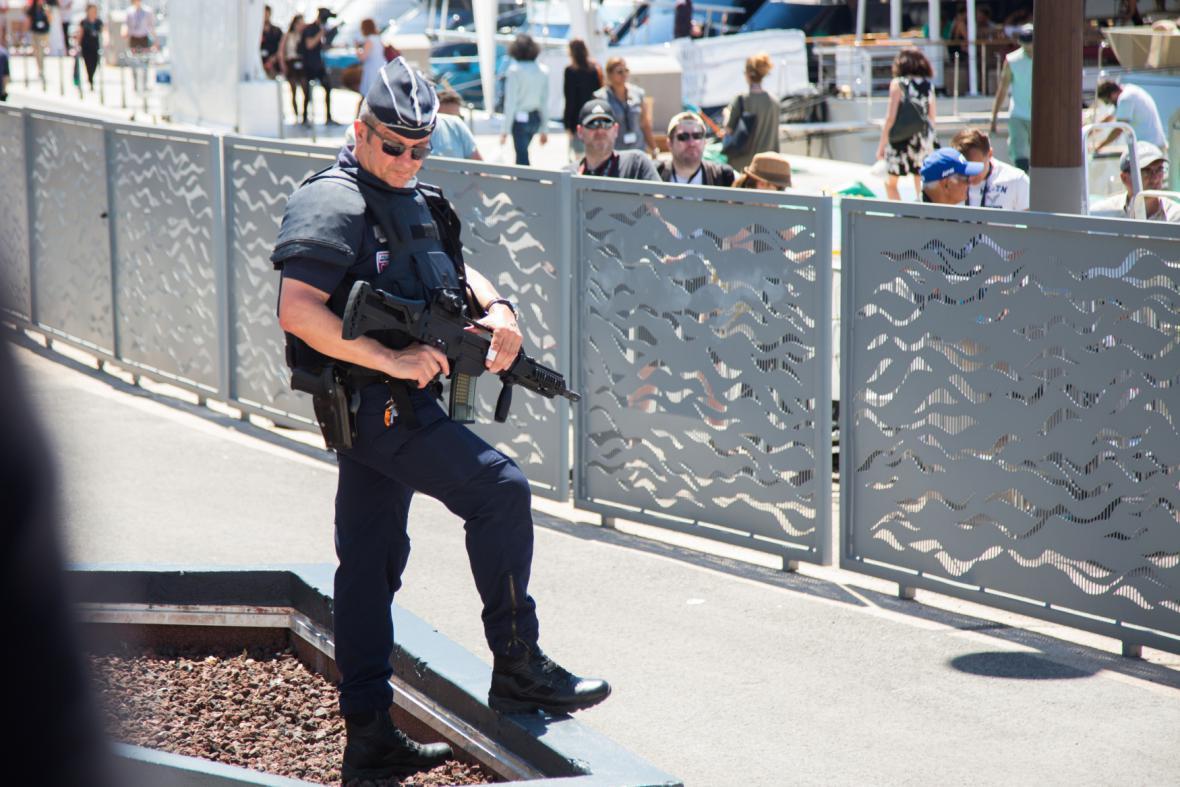 Bezpečnostní opatření na festivalu v Cannes