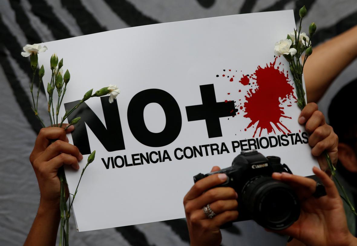 Mexičané protestují proti vraždám novinářů