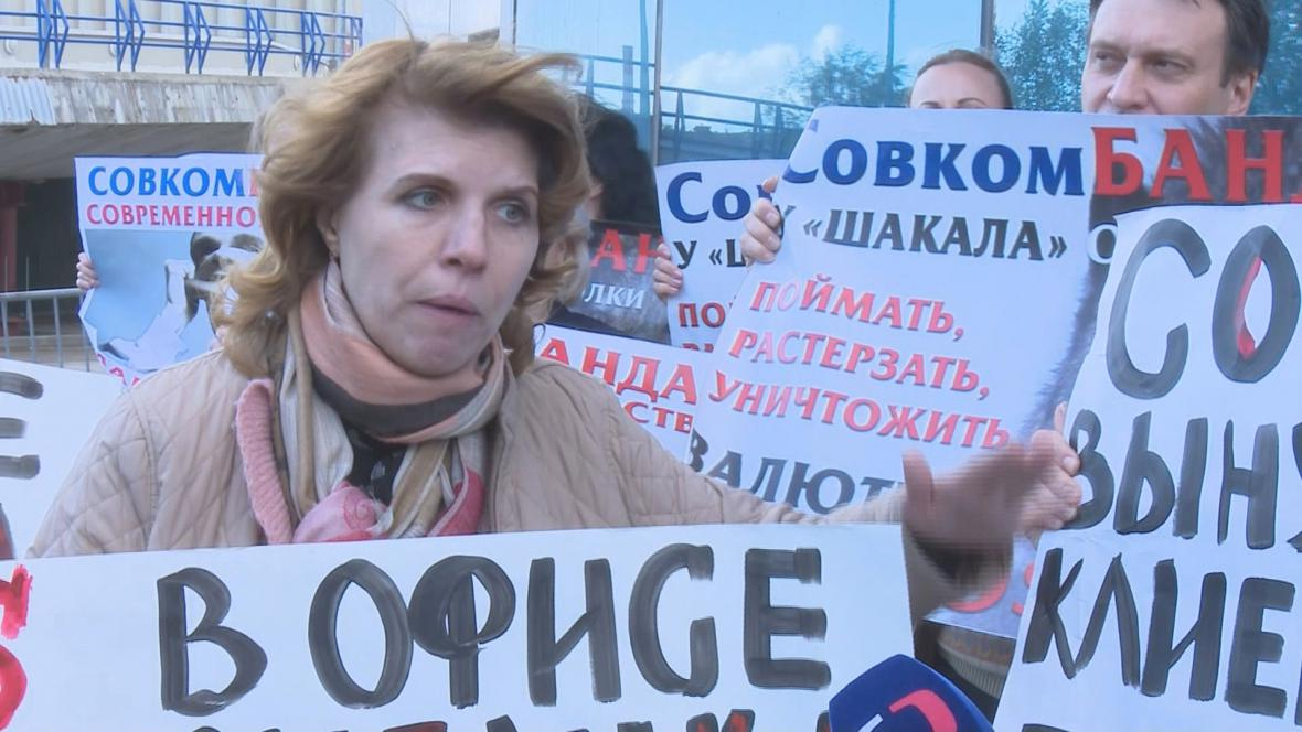 Olga Šopavalová drží kvůli jednání banky hladovku