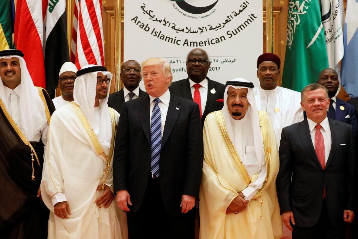 Donald Trump v Saúdské Arábii