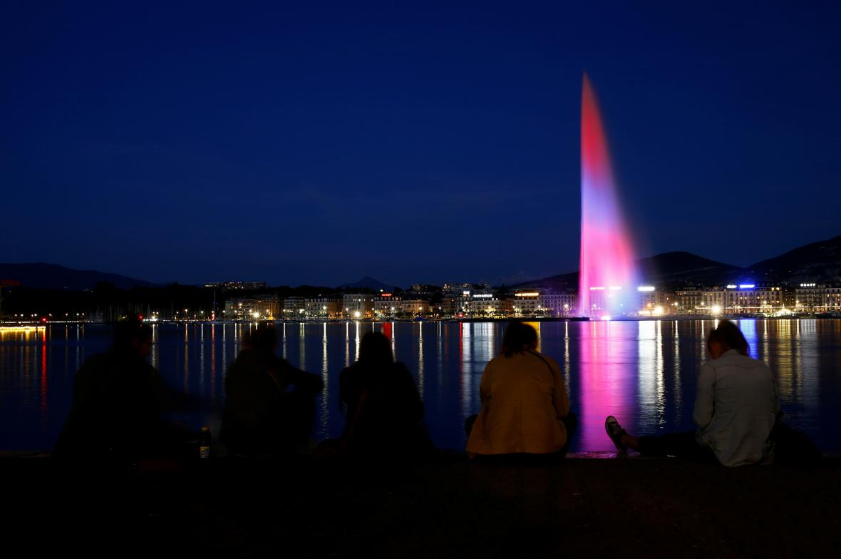 Fontána v Ženevě