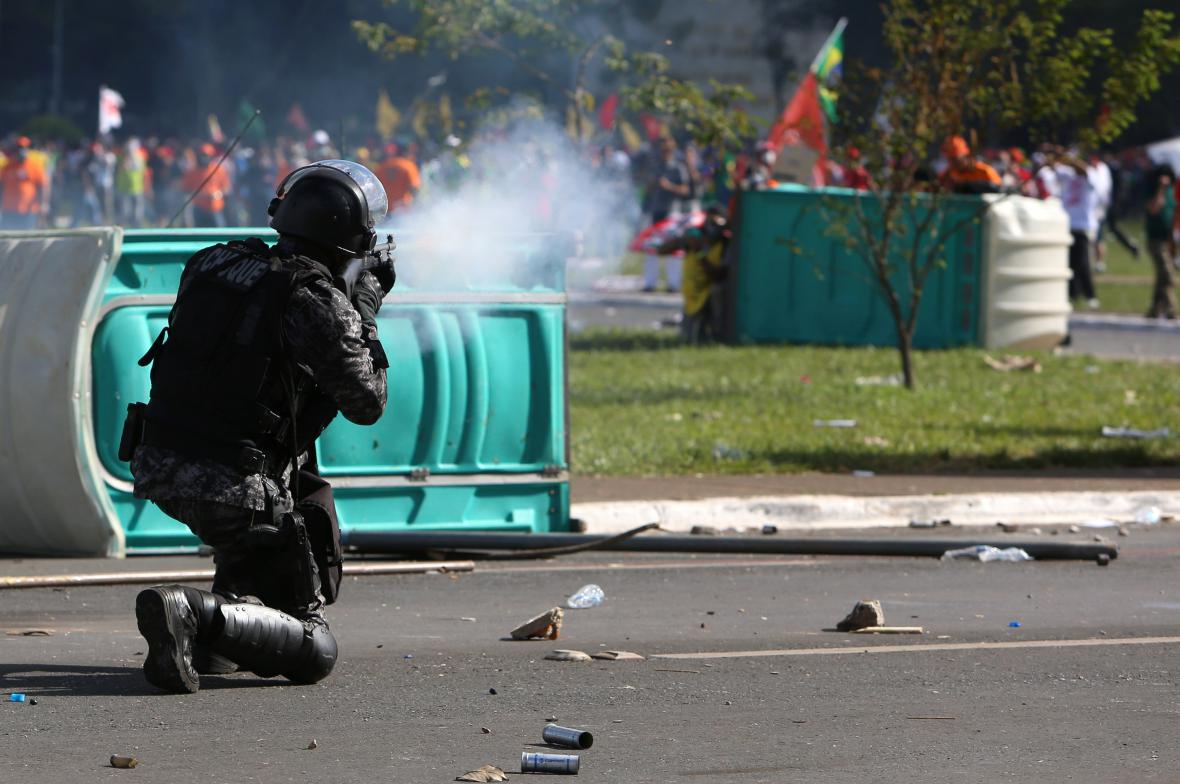 Střety s policií v Brazílii