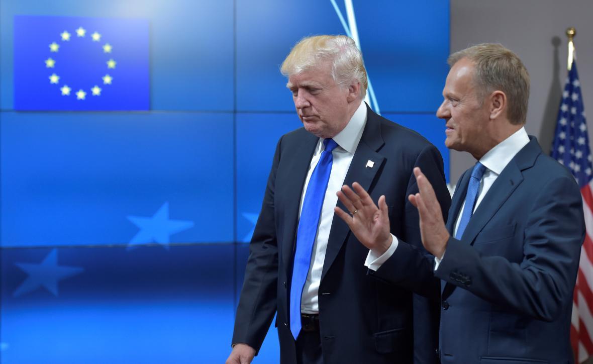 Donald Trump s Donaldem Tuskem