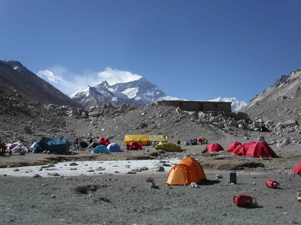Tábor na Everestu
