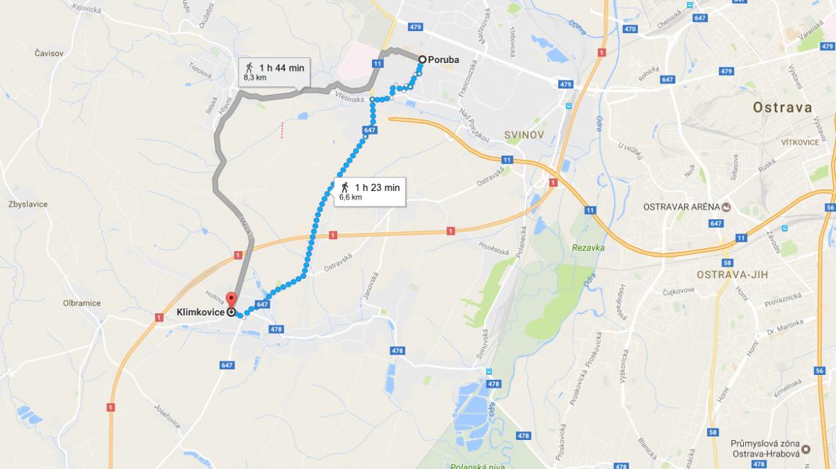 O územní plán mezi Klimkovicemi a městkou částí Poruba se vedou spory