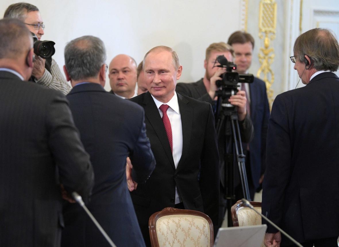 Putin během setkání s novináři