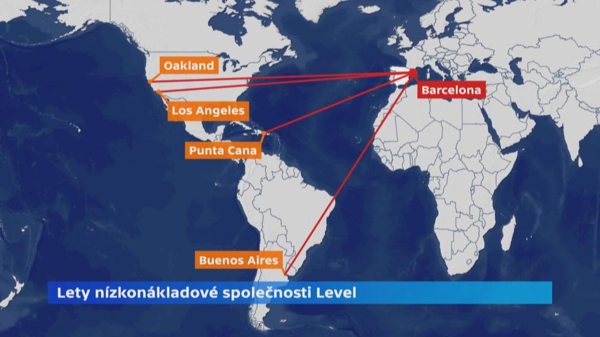 Transatlantické lety společnosti LEVEL