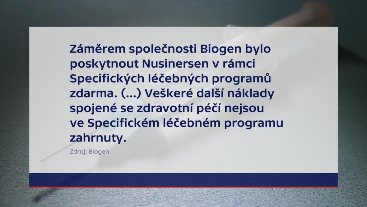 Vyjádření společnosti Biogen