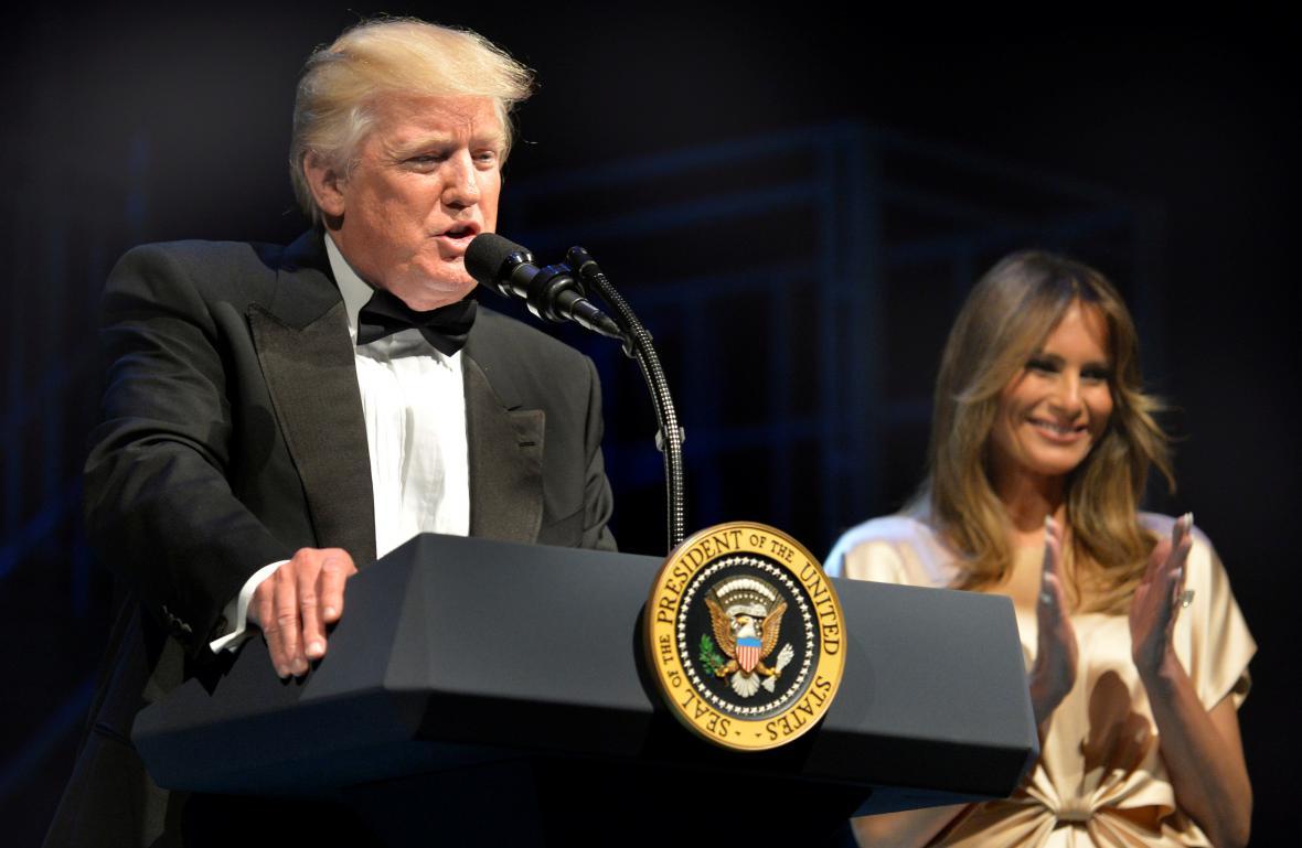 Donald Trump s manželkou Melanií