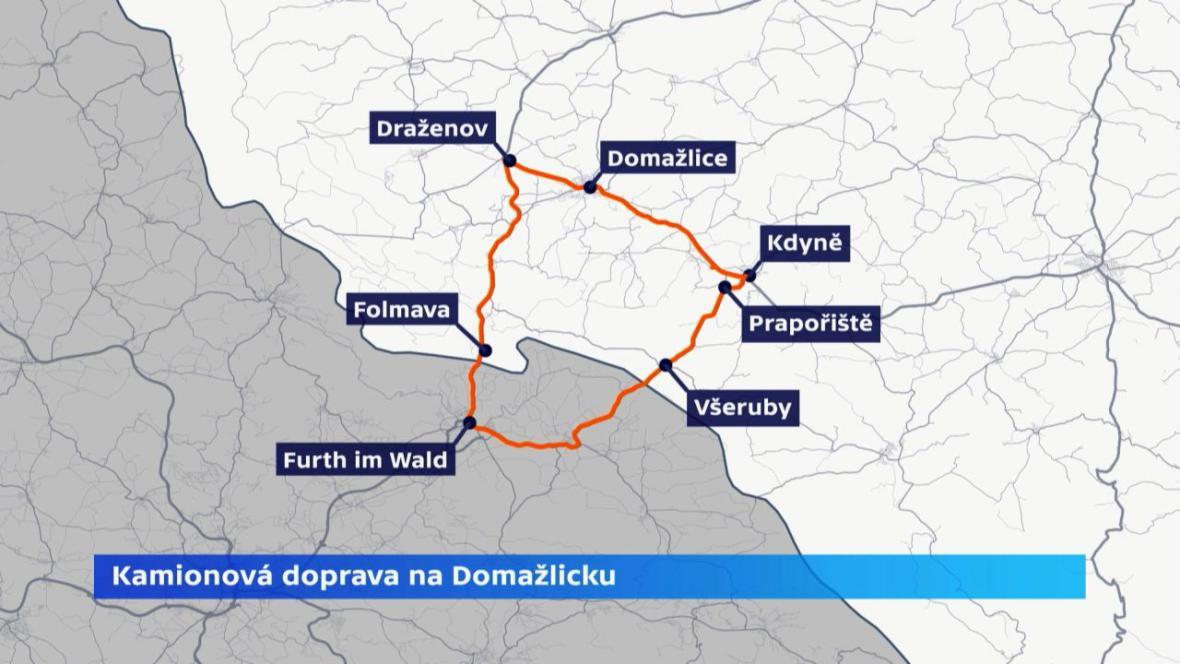 Obyvatelé Prapořišť a Všerub požadovali, aby kamiony jezdily do Německa přes Folmavu, ale neuspěli