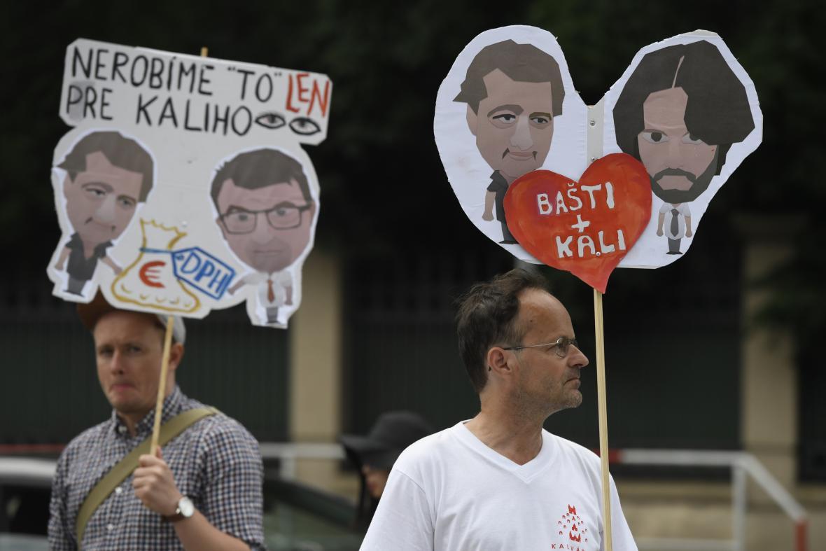 Protest proti politické situaci na Slovensku