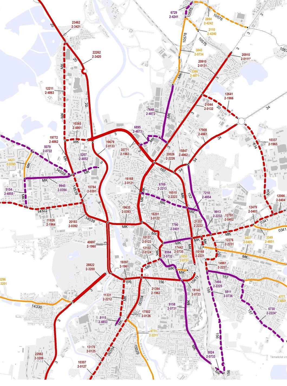 Průměrná dopravní intenzita v Českých Budějovicích (2016)