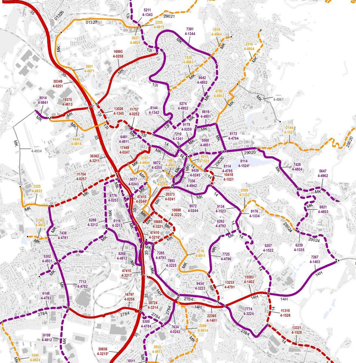 Průměrná dopravní intenzita v Liberci (2016)