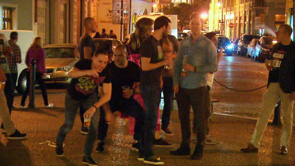 Cizinci v centru Prahy