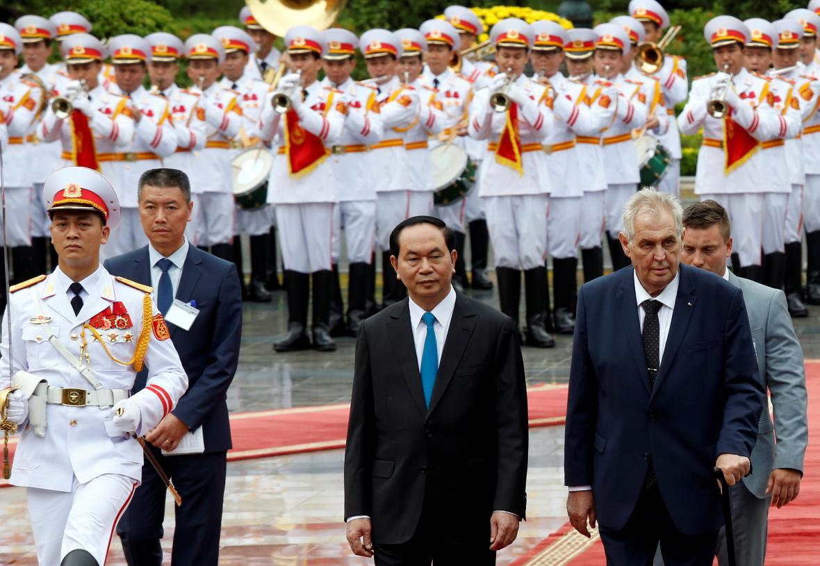 Prezident Miloš Zeman na návštěvě Vietnamu