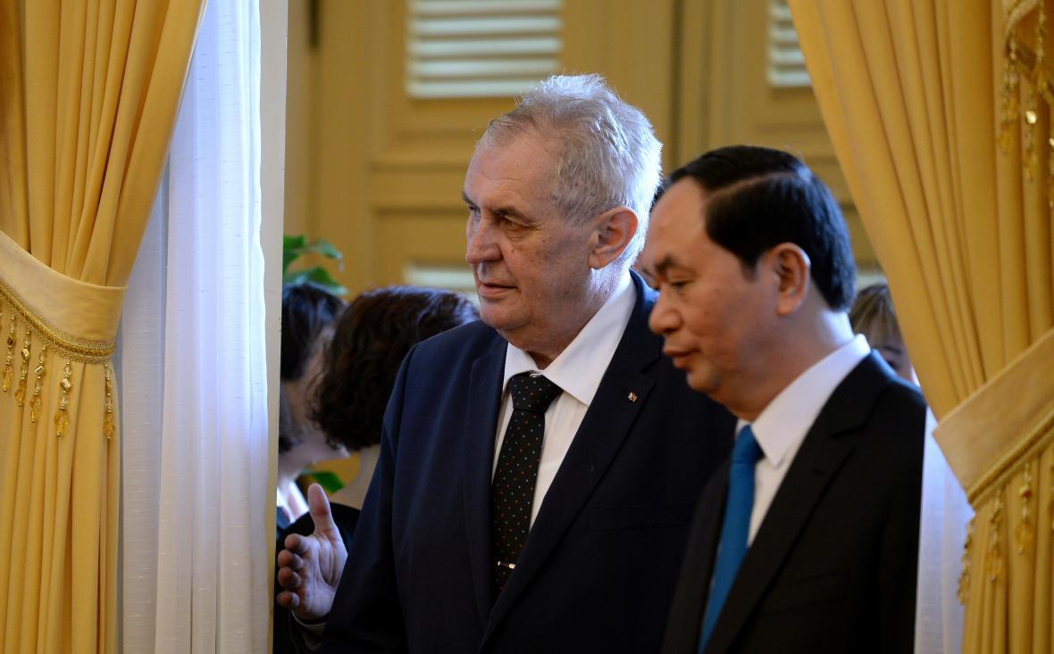 Český a vietnamský prezident
