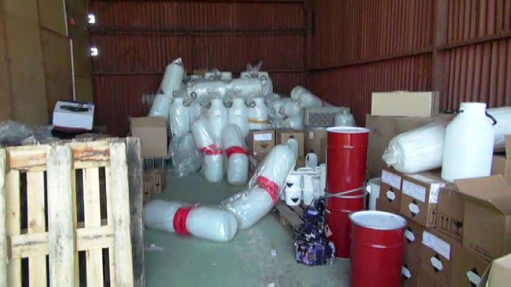 Sklad látek pro výrobu drog