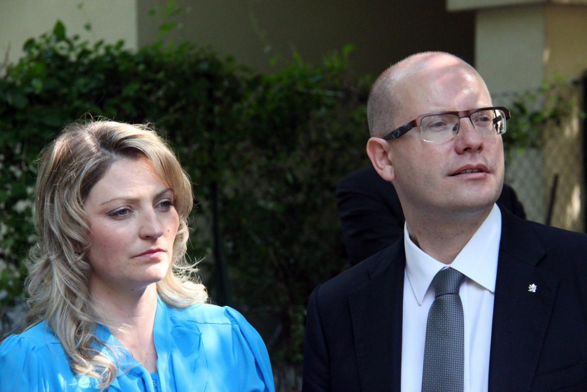 Bohuslav Sobotka s manželkou Olgou v červnu 2014