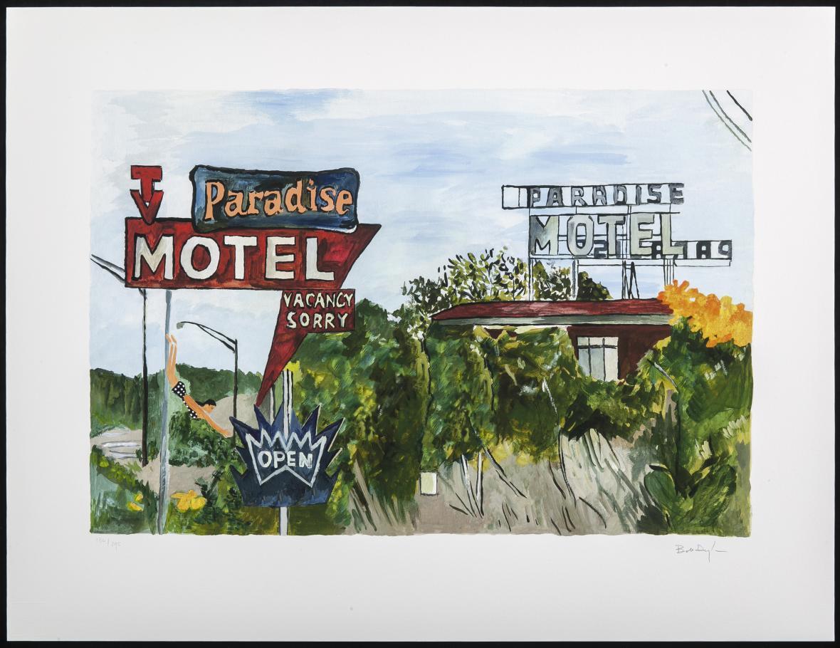 Z výstavy Bob Dylan: On the Road