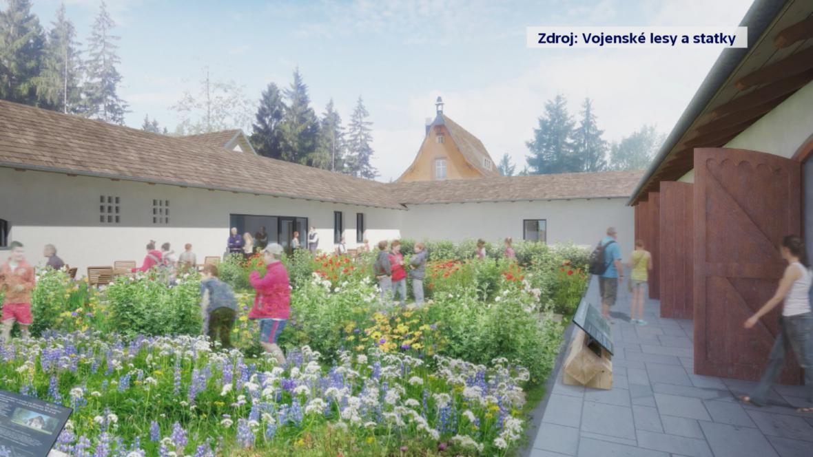 Vizualizace Domu přírody v Loveckém zámečku