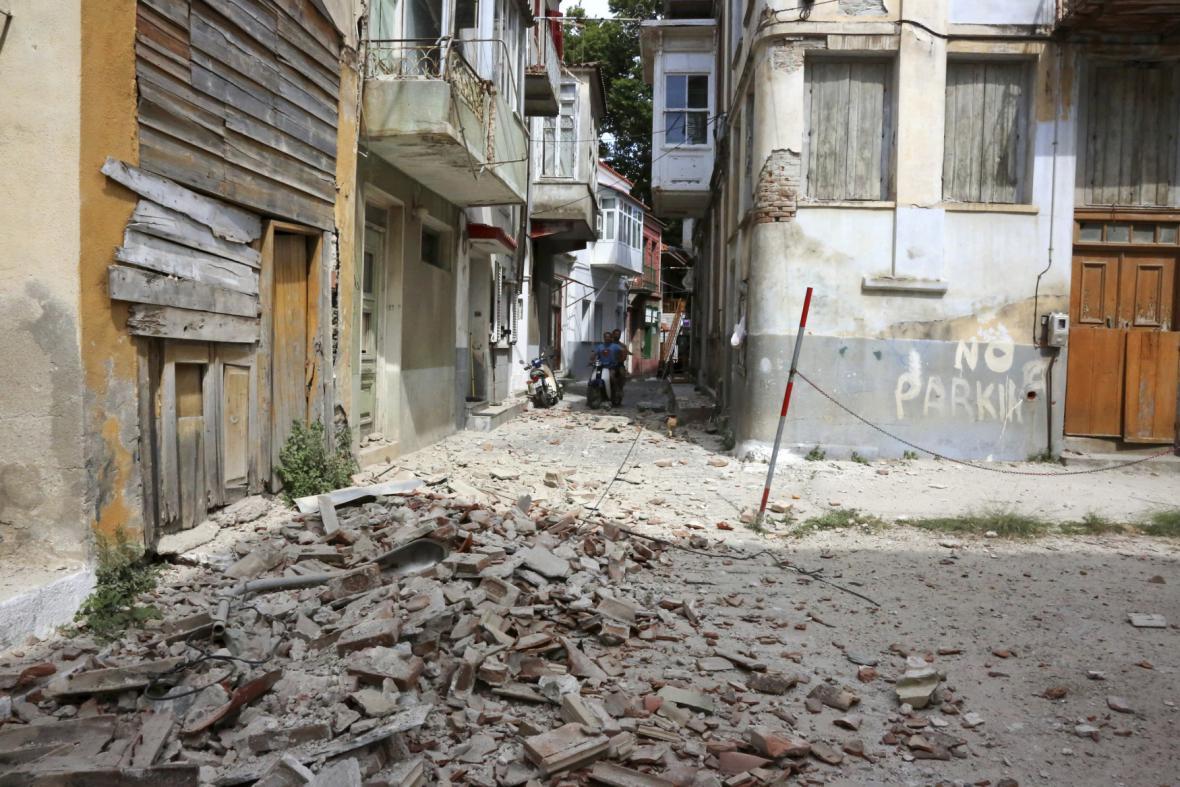 Zemětřesení na ostrově Lesbos