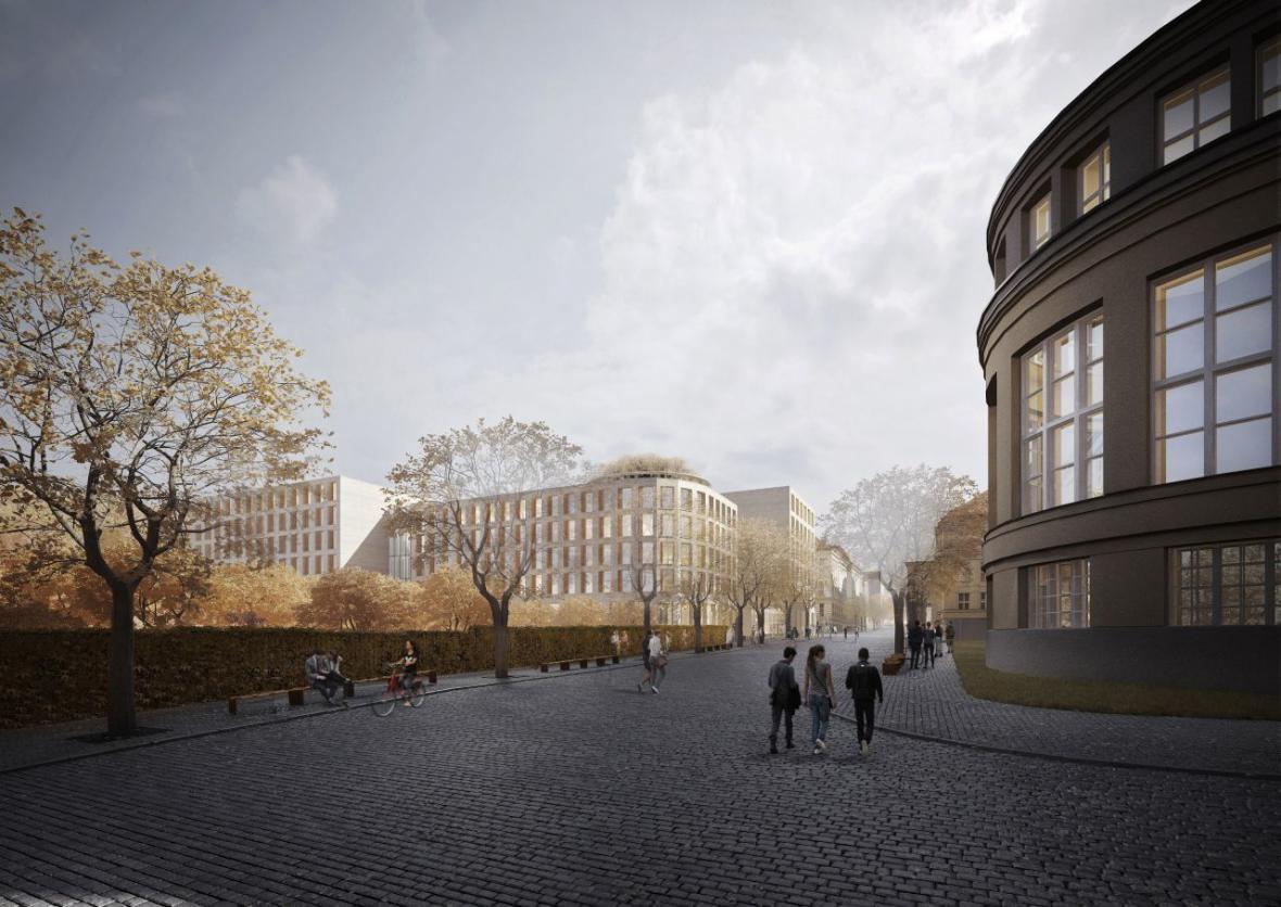 Vítězný návrh Kampusu Albertov (budova Biocentra)
