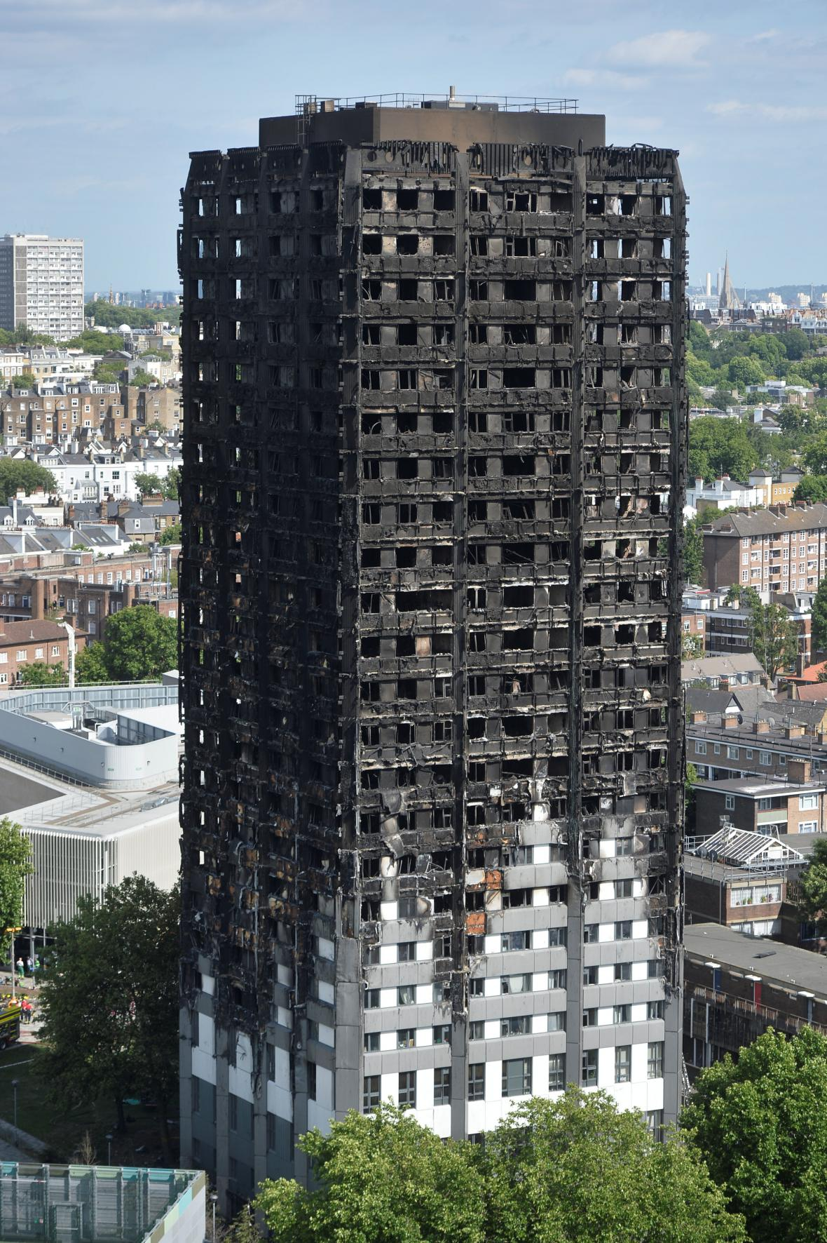 Grenfell Tower po požáru