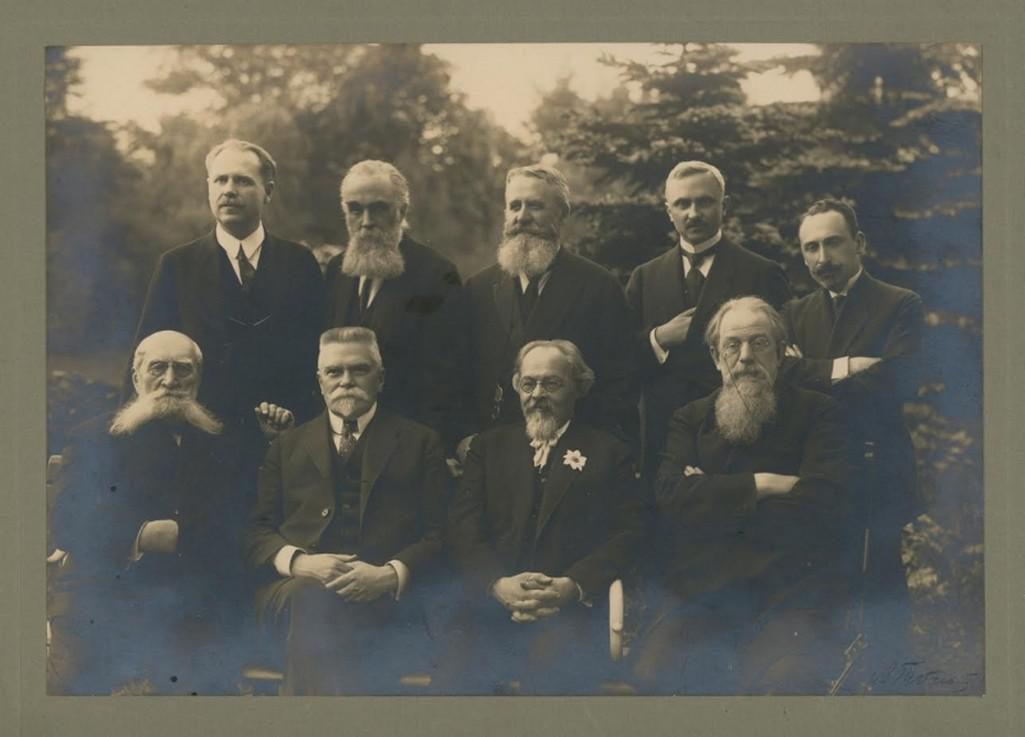 Ministerský předseda ČSR Karel Kramář s výborem ruských spisovatelů a novinářů (1925)