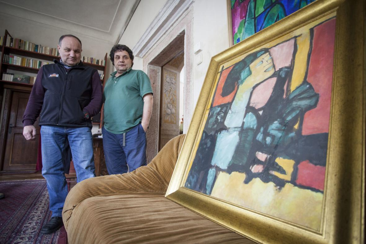 Synovci Miloslava Troupa s obrazem Jacqueline