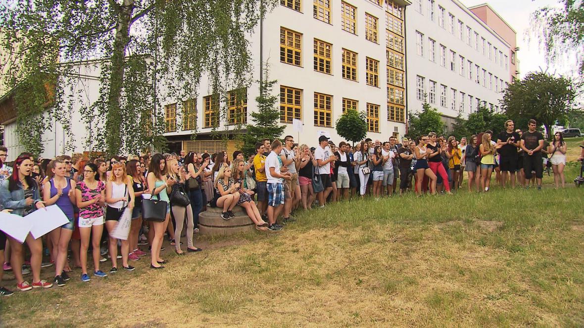 Protest studentů OA v Rakovníku