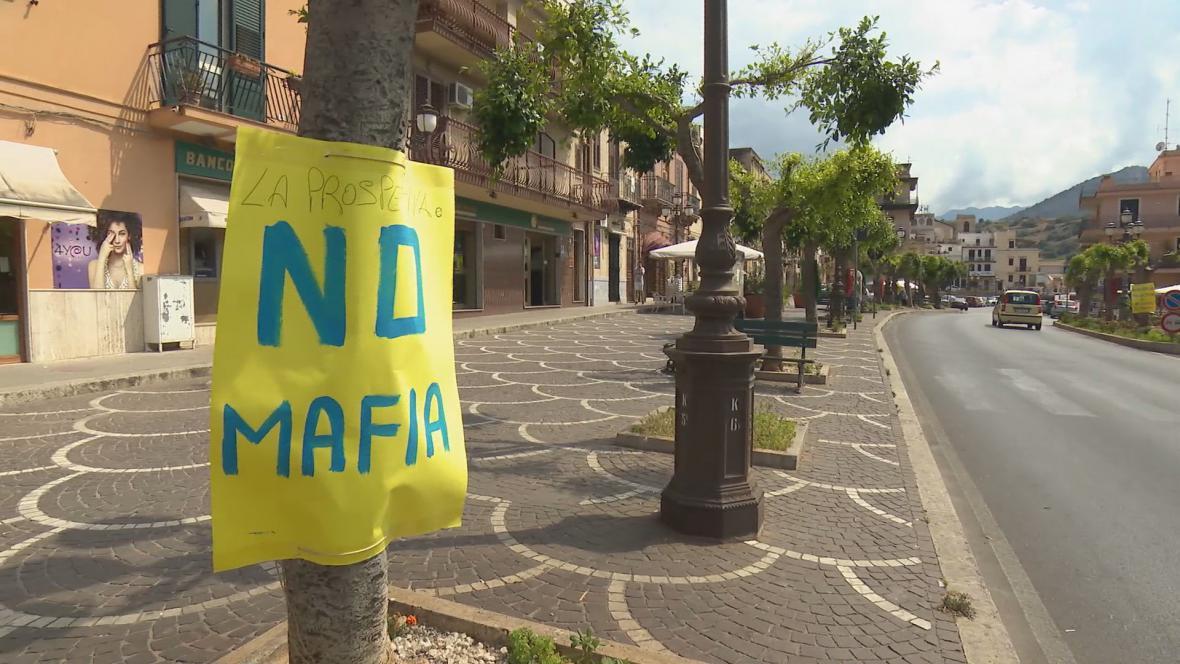 Protest proti mafiánským praktikám na Sicílii