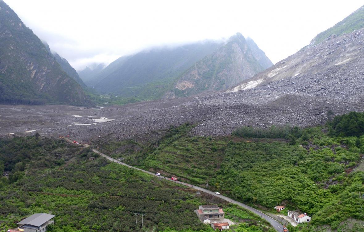 Sesuv půdy v Číně