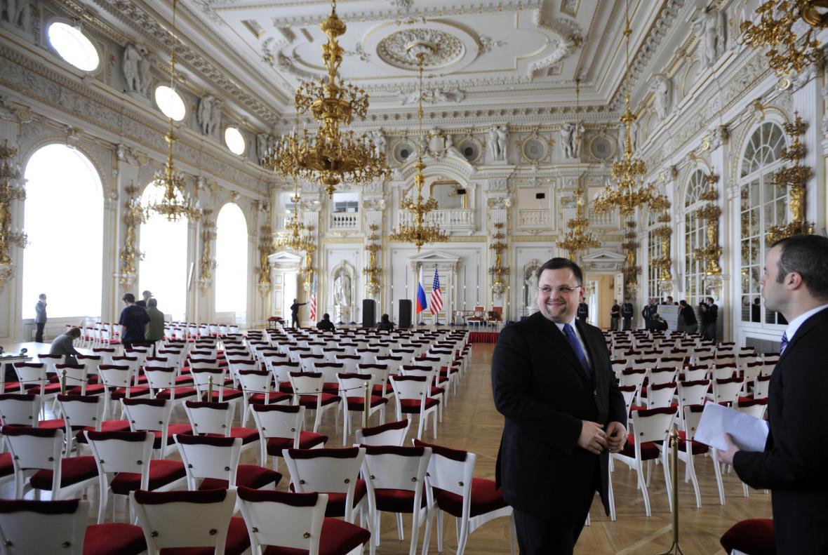 Jindřich Forejt ve Španělském sále Pražského hradu