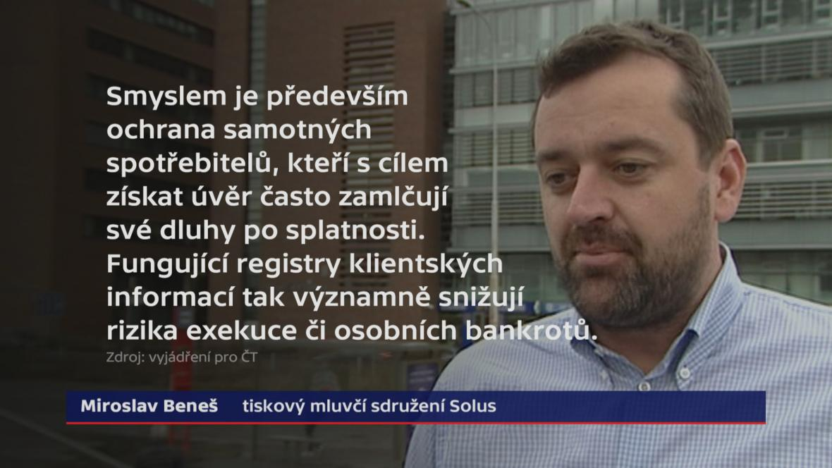 Miroslav Beneš, tiskový mluvčí sdružení SOLUS