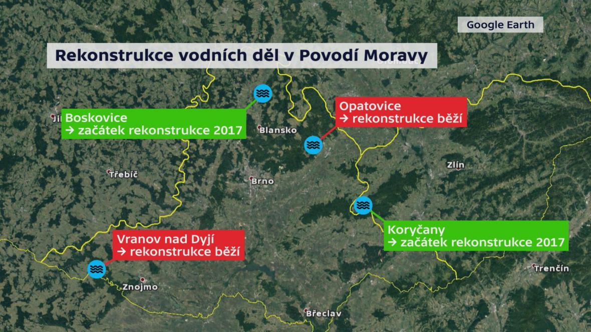 Rekonstrukce vodních děl v Povodí Moravy