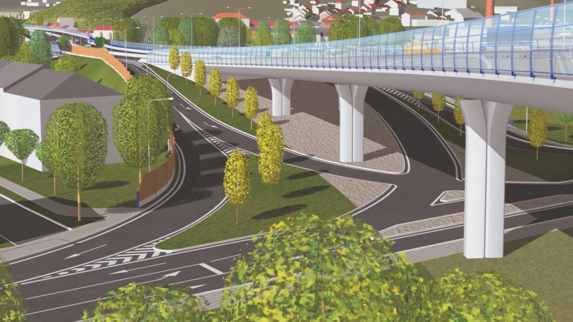 Budoucí podoba mimoúrovňové křižovatky v Rokytově ulici