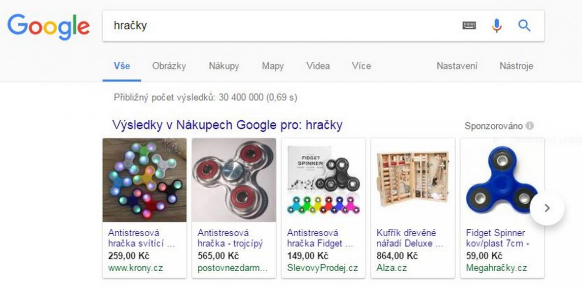 Nákupy Google pokuta