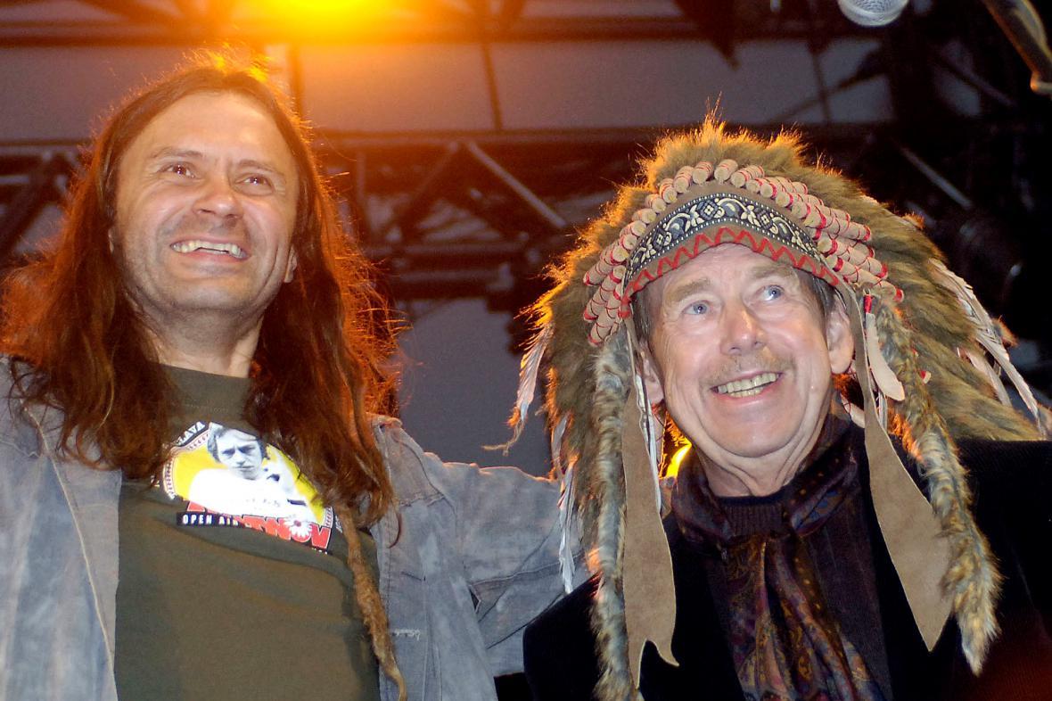 Martin Věchet a Václav Havel, 2007