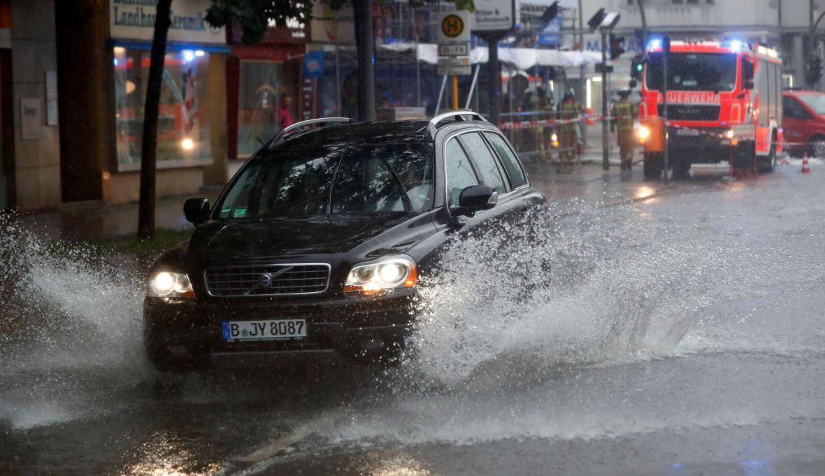 Zaplavené ulice Berlína