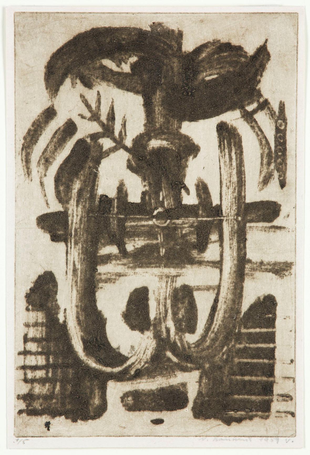 Vladimír Boudník / Symboly, strukturální grafika, 1959