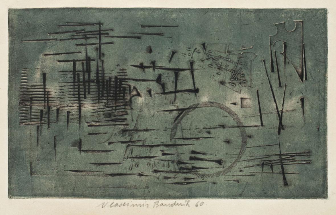 Vladimír Boudník / Stopy materiálů, aktivní grafika, 1959–1960