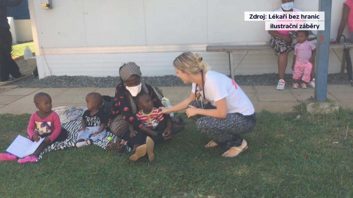Veronika Polcová během mise v Jižním Súdánu